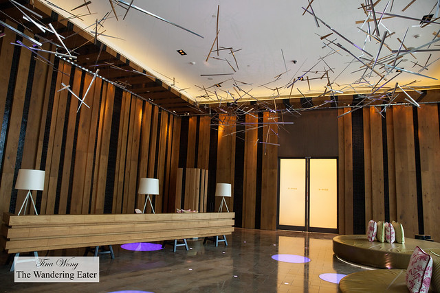 """Ground floor public area at W Taipei with the design theme of """"nature electrified"""""""