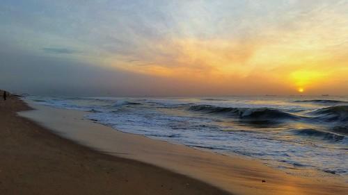 sunrise dawn sun india beauty beach