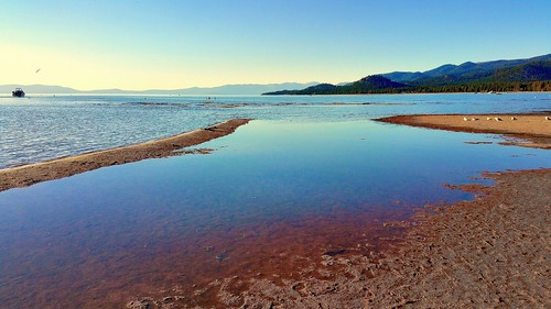 california panorama lake reflection water reflections sand laketahoe panoramic alpine sierranevada southlaketahoe boatdock waterlevel sandbars inyonationalforest waterpictorial skirunmarina joelach