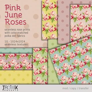 Trowix - Pink June Roses VendLg