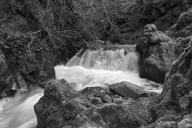 Carlingill Beck in Lummers Gill, Howgill Fells, Yorkshire Dales National Park near Sedbergh, Cumbria, UK