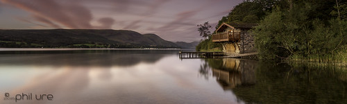 water canon reflections landscape dawn still lakedistrict cumbria boathouse waterscape lakedistrictnationalpark ullswater dukeofportland leefilters canon6d littlestopper