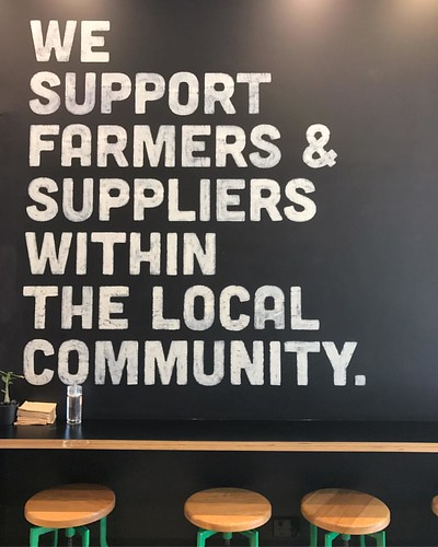 That's an awesome statement to have on your #businesses wall.  #localcommunity #local #tasmania #iphonephotography #iphone7plus | by UpSticksNGo
