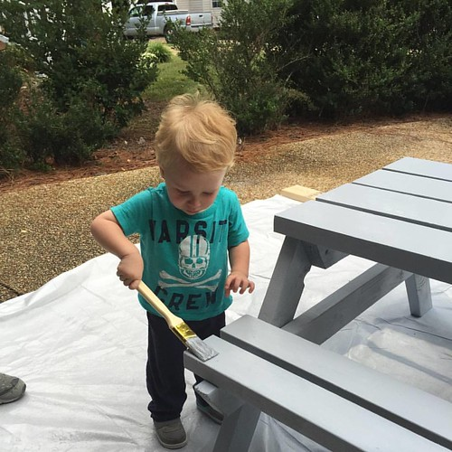 Sunday Fun day with the little man, getting the table done done! | by imbigwill