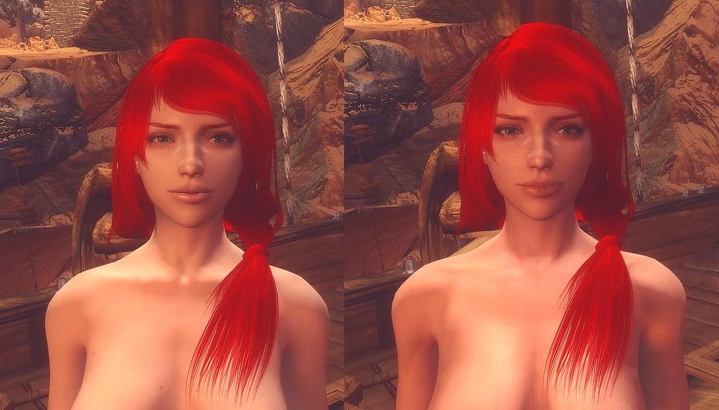 Lizzy SG Female Textures Renewal (left) vs SRG Female