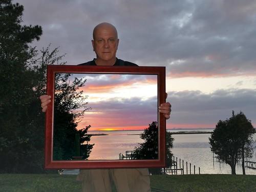 sunset sky orange selfportrait colors landscape see photo framed alabama picture sp frame daphne through selfie mediocre mobilebay