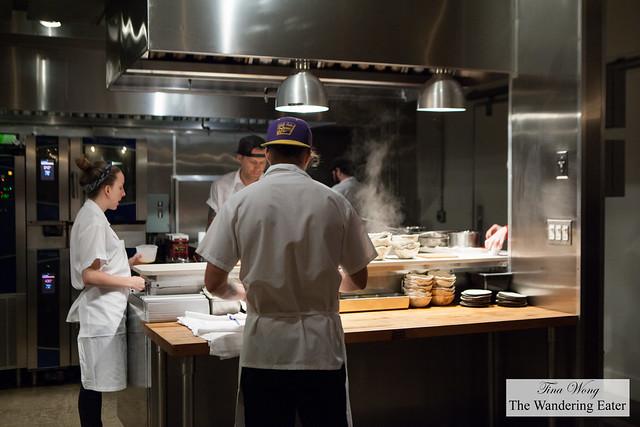 Kitchen crew prepping