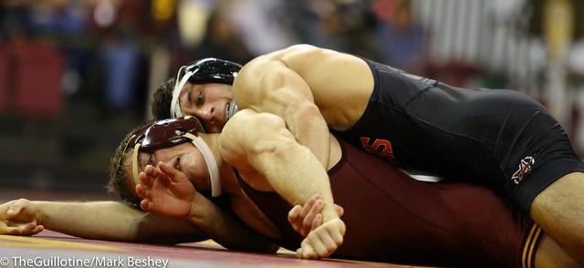 125 #10 Nick Piccininni (Oklahoma State) tech fall Skyler Petry (Minnesota) 17-1