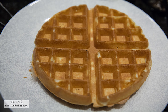 Fresh made waffle at Garden Kitchen