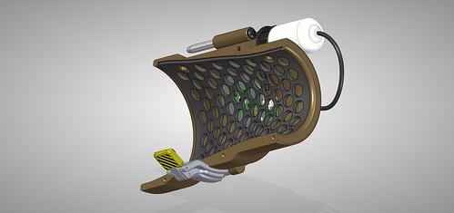 Pip-Boy 3000 Mk4, CAD, Back-half | by ZapWizard