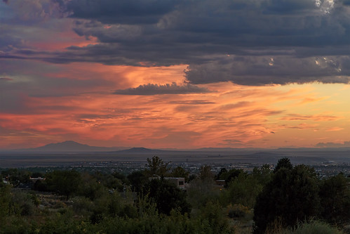 sunset sky newmexico clouds landscape desert cloudy albuquerque nm grantcondit gecondit