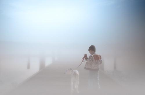 wowographycom smithtown ny longisland misty fog boy dog morning dock walking pier 3948974 foggy 2015 landscape nikon d610 1635mm justycinmd art dreamy people explore 4000000views lightroom6 tomreese photography 500px
