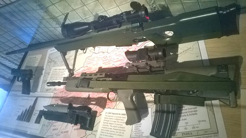 L96A1 Sniper Rifle And SA-80 Leeds , West Yorkshire , England , UK ,