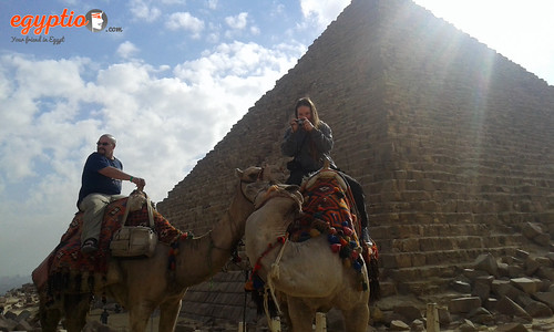 camel ride pyramids of giza | by Egyptio Private Tours