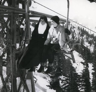 Los Angeles IHM Sister at Mt. Baldy in Southern California 1958