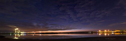 longexposure panorama canon industrial australia adelaide southaustralia portriver largsnorth torrensisland 3imagestich