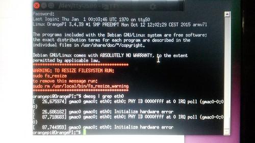 Orange Pi PC cannot use Ethernet
