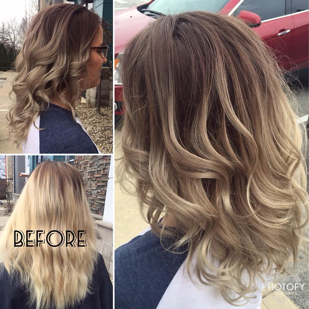 Ash Blonde Balayage Hair Color G Michael Salon Indianapo