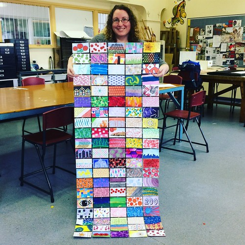 I'm holding ~100 of my index cards from the last three years here. Thanks to Tracy for taking the photo today :) | by sallysetsforth