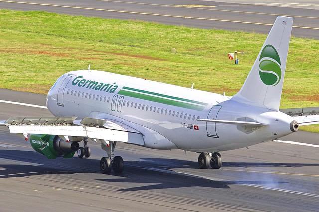 FNC/LPMA: Germania(Switzerland) Airbus A319-112  HB-JOH