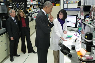 President Obama visits the Vaccine Research Center at the NIH | by National Institutes of Health (NIH)