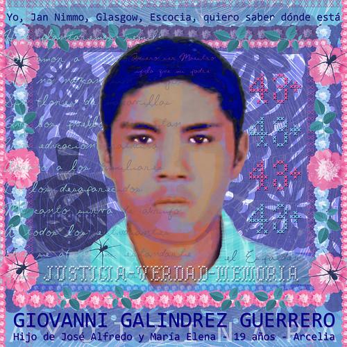Yo, Jan Nimmo, Glasgow, Escocia, quiero saber dónde está Giovanni Galindes Guerrero. Digital Art: Jan Nimmo ©