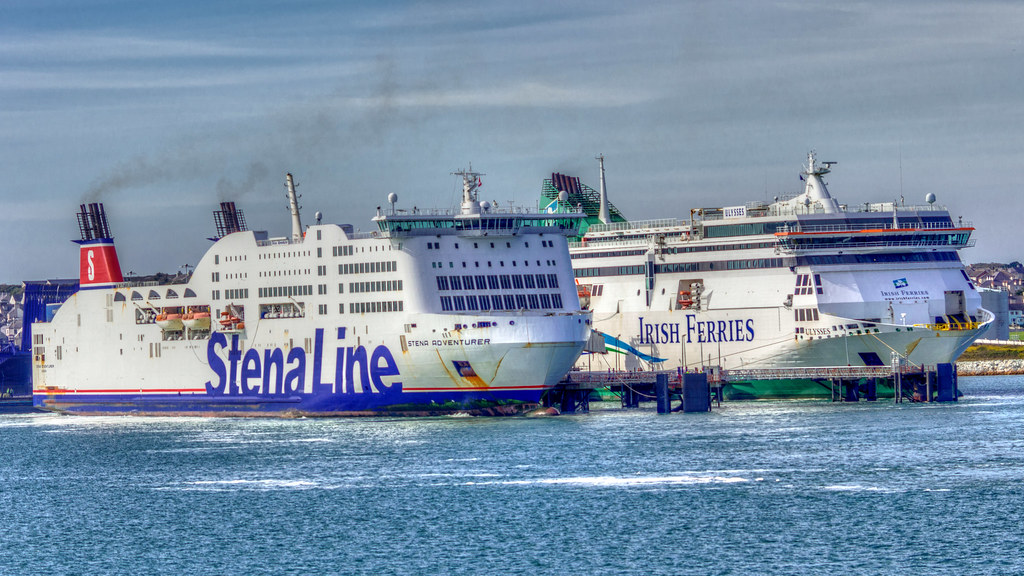 At Holyhead   Irish Car ferry 'MV Ulysses' (2000) next to … | Flickr