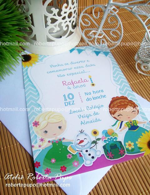 Convite Kit Frozen Fever Toppers Docinhos_Kit Frozen Fever #frozenfever #convitefrozen