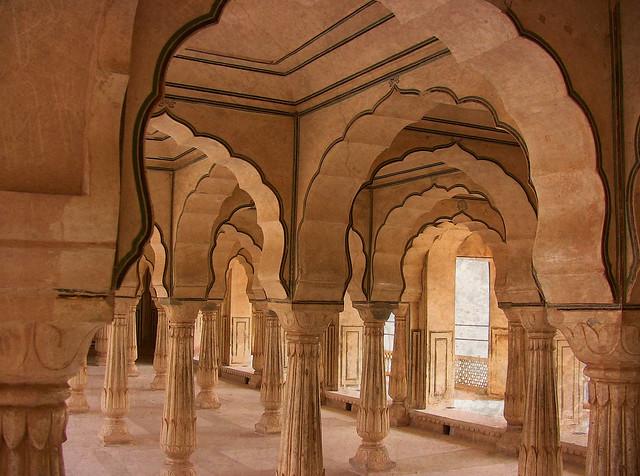 INDIEN, Fort Amber bei Jaipur, Versammlungssaal , 13089/5812