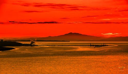 california sunset landscape scenery mounttam waterscape oilrefinery sanpablobay stevefrazierphotography
