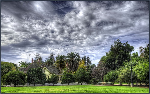 historical building drclarks office hdr photomatix clouds fullerton arboretum sigma24105