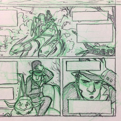 No ink this INKtober. Too busy storyboarding in digital and roughing out comics in pencil. | by Steve Rolston