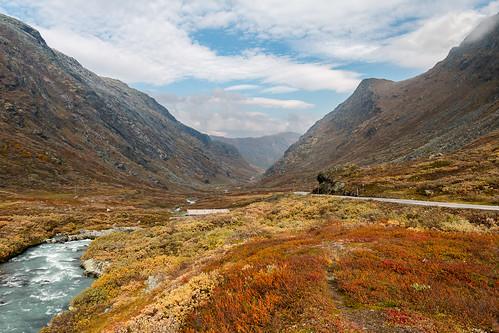 view vista fors norge jotunheimen sognefjellet utsikt norway rv55 outdoor rapids