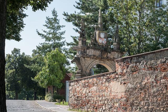 Torgau: Elbtor von Schloss Hartenfels