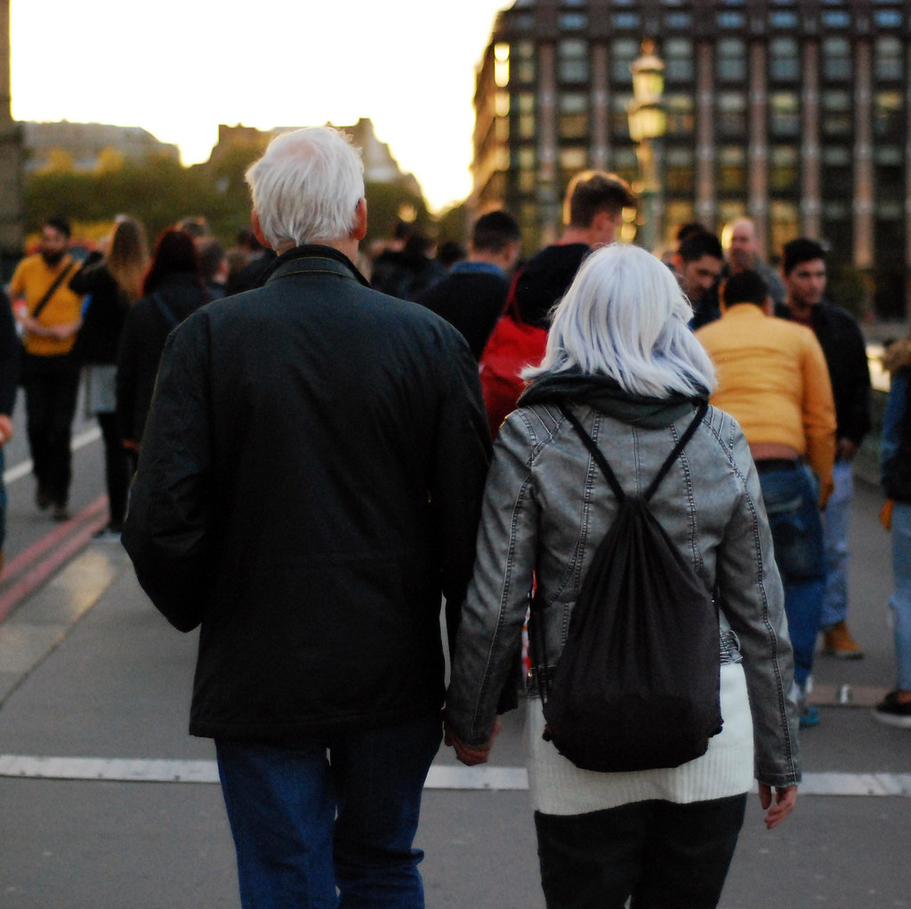 Senior Couple Walking in London
