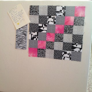 Received this lovely block from Sandy yesterday.  Round 10 of #scrappytripalong complete!