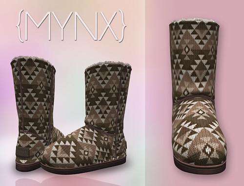 {MYNX} Bootie - Aztec Brown