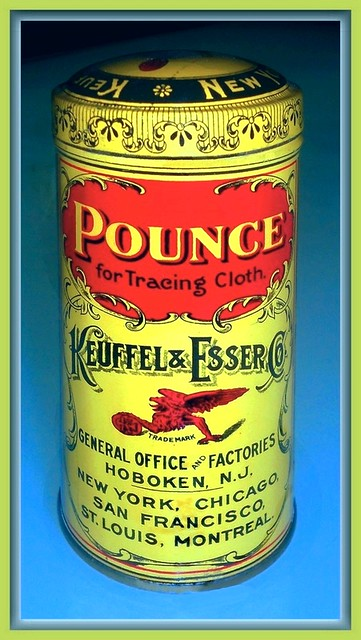 Pounce for Tracing Cloth. Keuffel & Esser Co.
