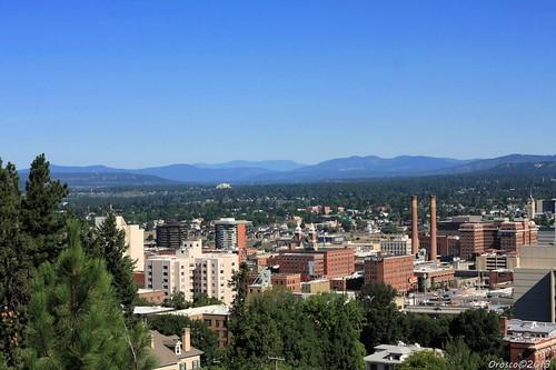 outdoor building day spokane spokanewashington spokanewa trees mountain