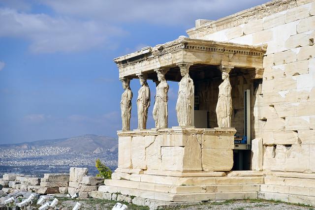 L'Érechthéion sur l'Acropole d'Athènes