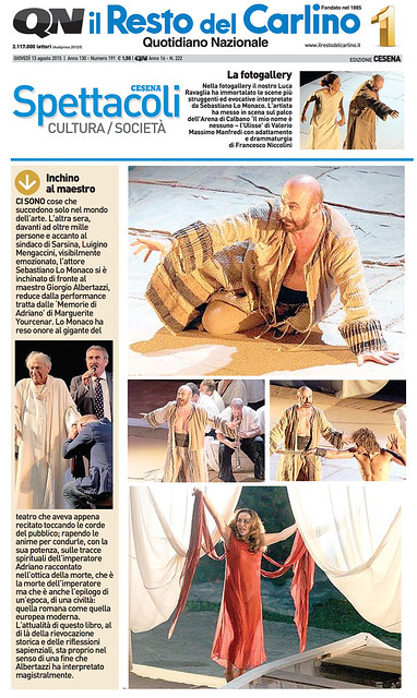 2015-08-13-Il Resto del Carlino-Sebastiano Omaggia Albertazzi - Foto di scena