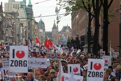Zorgdemonstratie 'Red de Zorg' in Amsterdam
