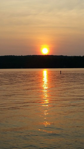 sunset summer maine sebagolake
