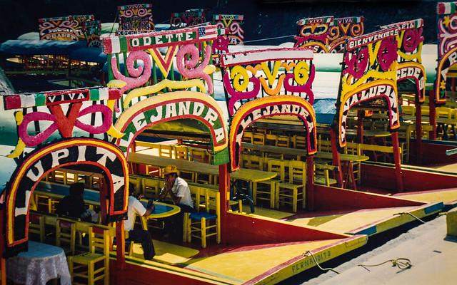 Colorful boats, Xochimilco, 1993