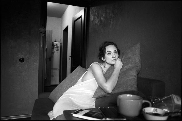 Олеся. Портрет с чашкой.
