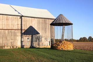 corn crib in October, 2015