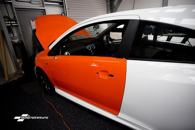 Corsa D Gloss orange wrap with Ceramic PRO