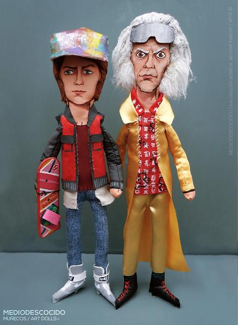 Marty & Doc / Versión Back to the Future Part II / Premium Art doll