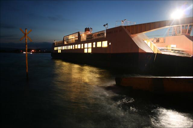 The Sandbanks ferry at Sandbank