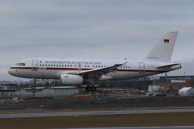 German Air Force Airbus A319-133(CJ) 15+01 ARN 170131